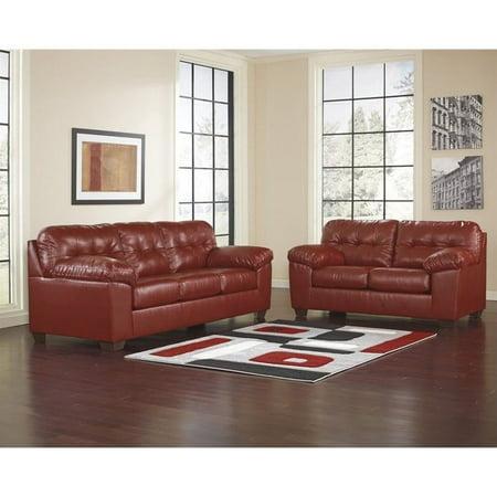 Ashley Furniture Alliston DuraBlend 2 Piece Leather Sofa Set in ...