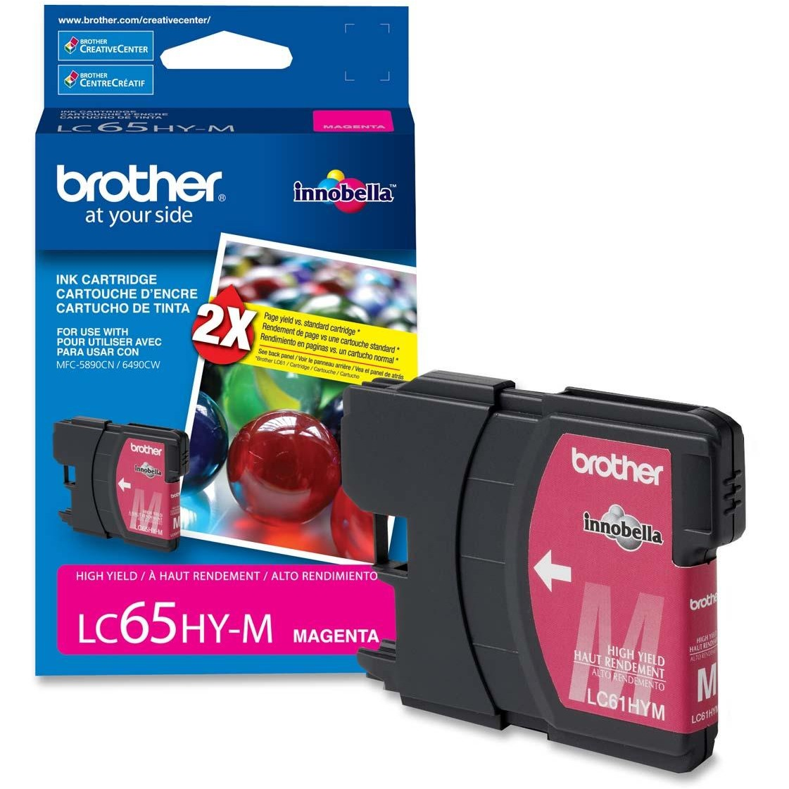 Brother, VCT900, LC65 High-yield Ink Cartridges, 1 Each