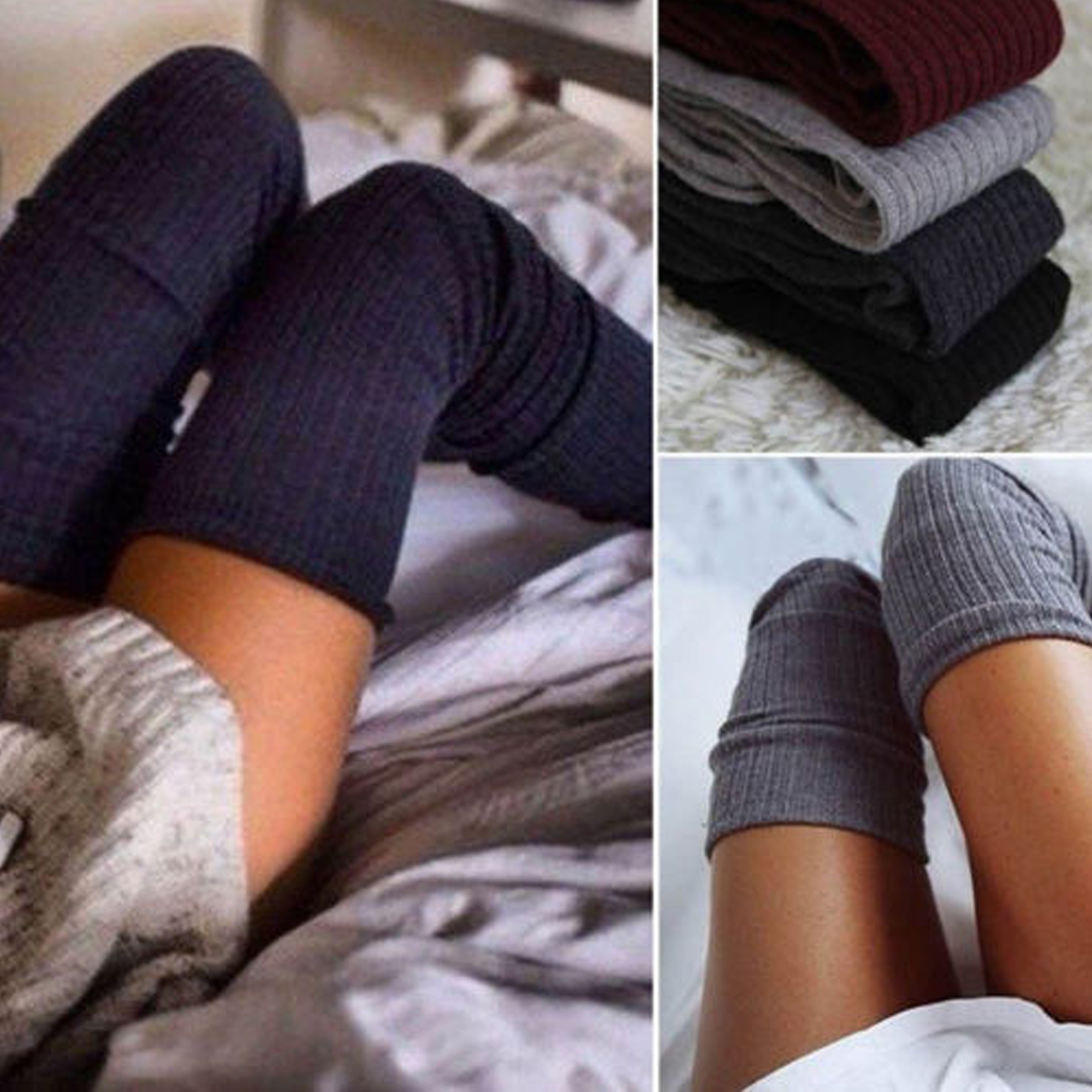 Deago Women Thigh High Socks Over the Knee Leg Warmer Tall Long Boot Socks