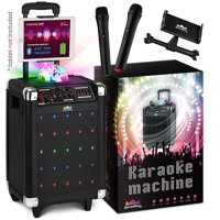 Karaoke Machine for Kids & Adults NEW Wireless Microphone Speaker with Disco Ball, 2 Wireless Bluetooth Microphones & FREE Phone/Tablet Holder Karaoke Bluetooth Toys for Kids G100 - KaraoKing