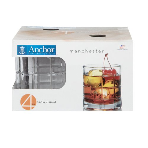 Anchor Hocking 10.5 oz. Glass Cocktail Glasses (Set of 4) by Anchor Hocking