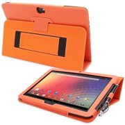 Snugg B00CL8W962 Nexus 10 Case Cover and Flip Stand, Orange Leather