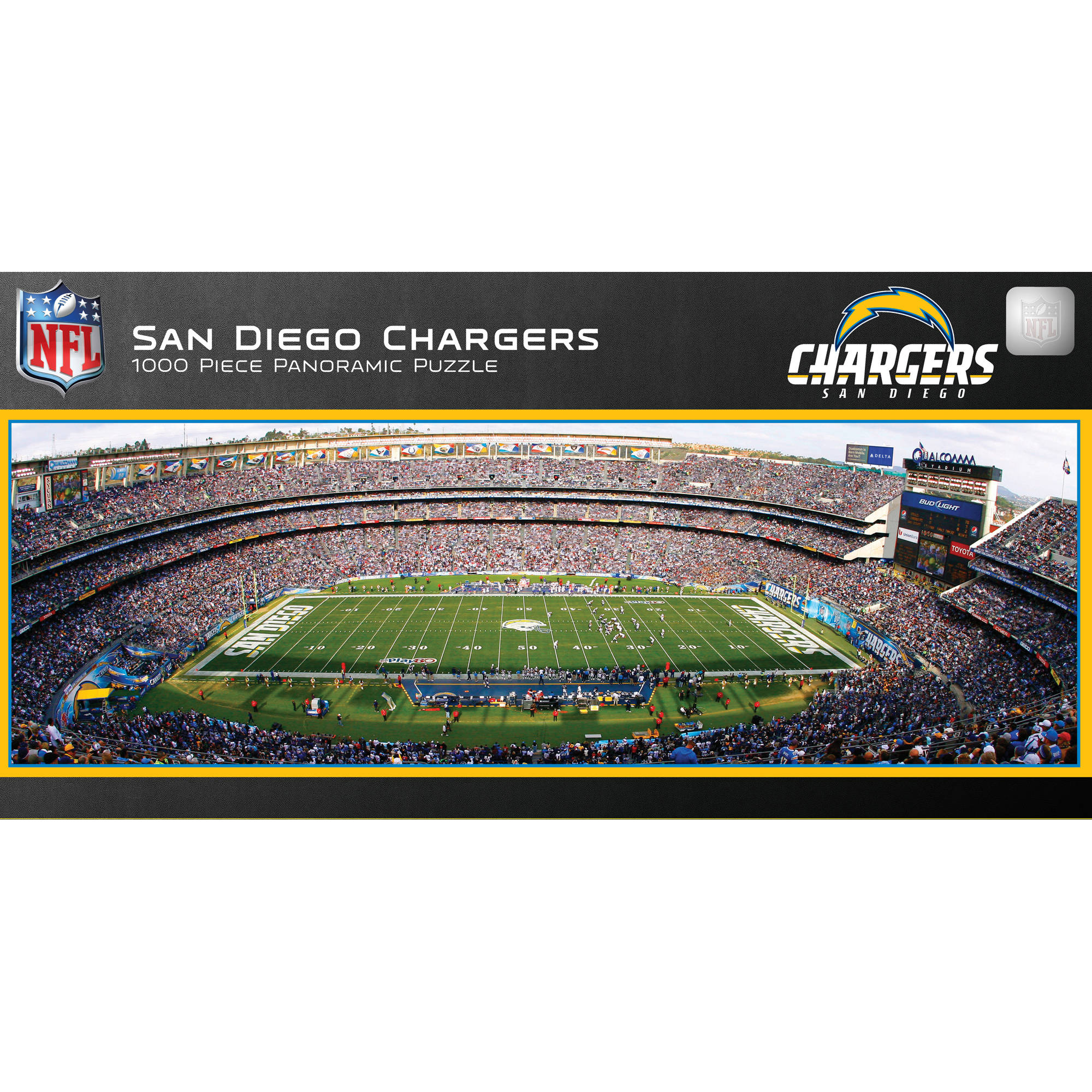 Master Pieces San Diego Chargers Panoramic Stadium Puzzle, 1,000 Pieces