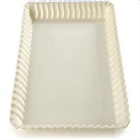 Fineline Settings 3-Piece Flairware Bone Serving Tray, 9 by 13-Inch Bone China 13 Oval Platter