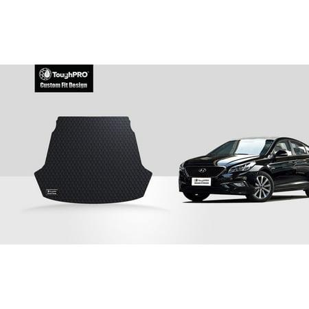 Toughpro Hyundai Sonata Trunk Mat All Weather Heavy Duty Black Rubber 2016
