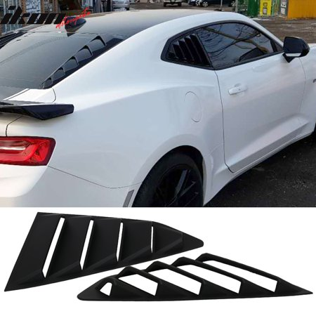 Compatible with 16-19 Chevy Camaro GT Style Quarter Window Louvers Scoops 2Pc (Razzi Window Scoop)