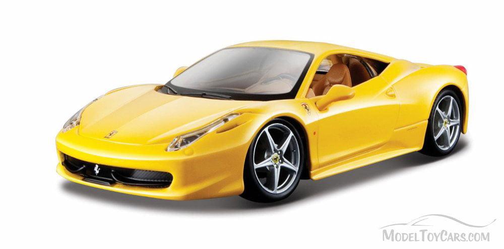 ferrari 458 italia yellow bburago 26003 1 24 scale diecast