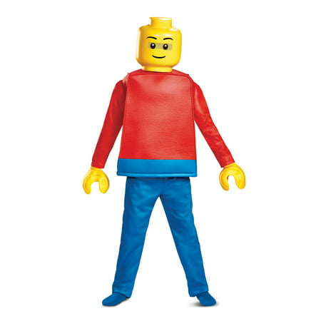 Boys Deluxe Lego Guy Halloween Costume](Good Halloween Costumes Guys)