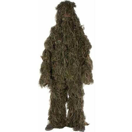 Modern Warrior Ghillie Suit 3-Piece Set, Woodland and Forest Design, One Size Fits Most Adults