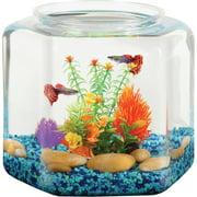 """Hawkeye 2 Gallon Fish Bowl Hex Shaped, Shatterproof Plastic, 9.25""""L x 9.25""""W x 9.25""""H"""