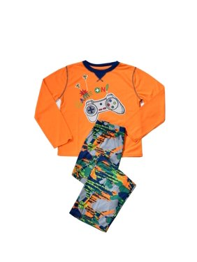 KOMAR KIDS GAMER CAMO 2-PC JERSEY PAJAMA SET