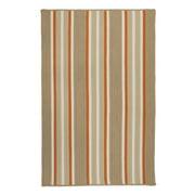 5' x 8' Beige and Orange Striped Rectangular Area Throw Rug