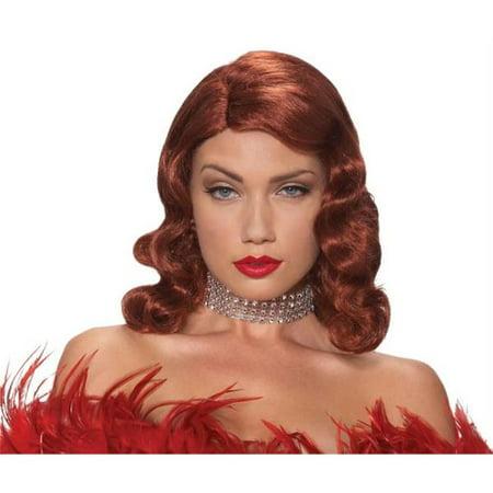 Wig Femme Fatale Red - Femme Halloween Maquillage