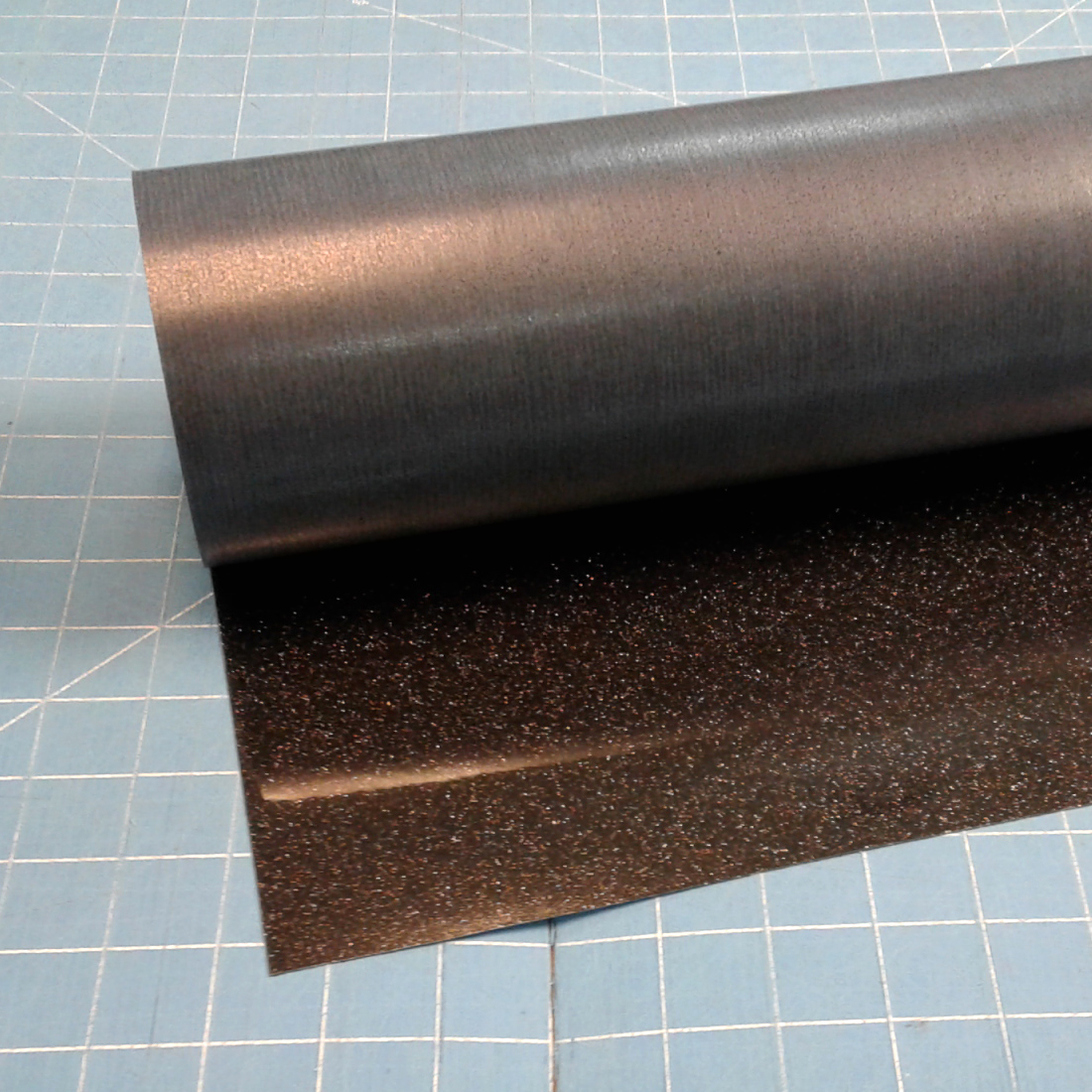 "Black Siser Glitter 20"" x 5' Iron on Heat Transfer Vinyl Roll, HTV"