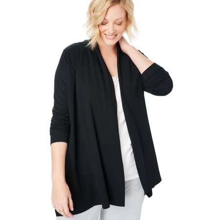 - Woman Within Plus Size Cascading Cardigan