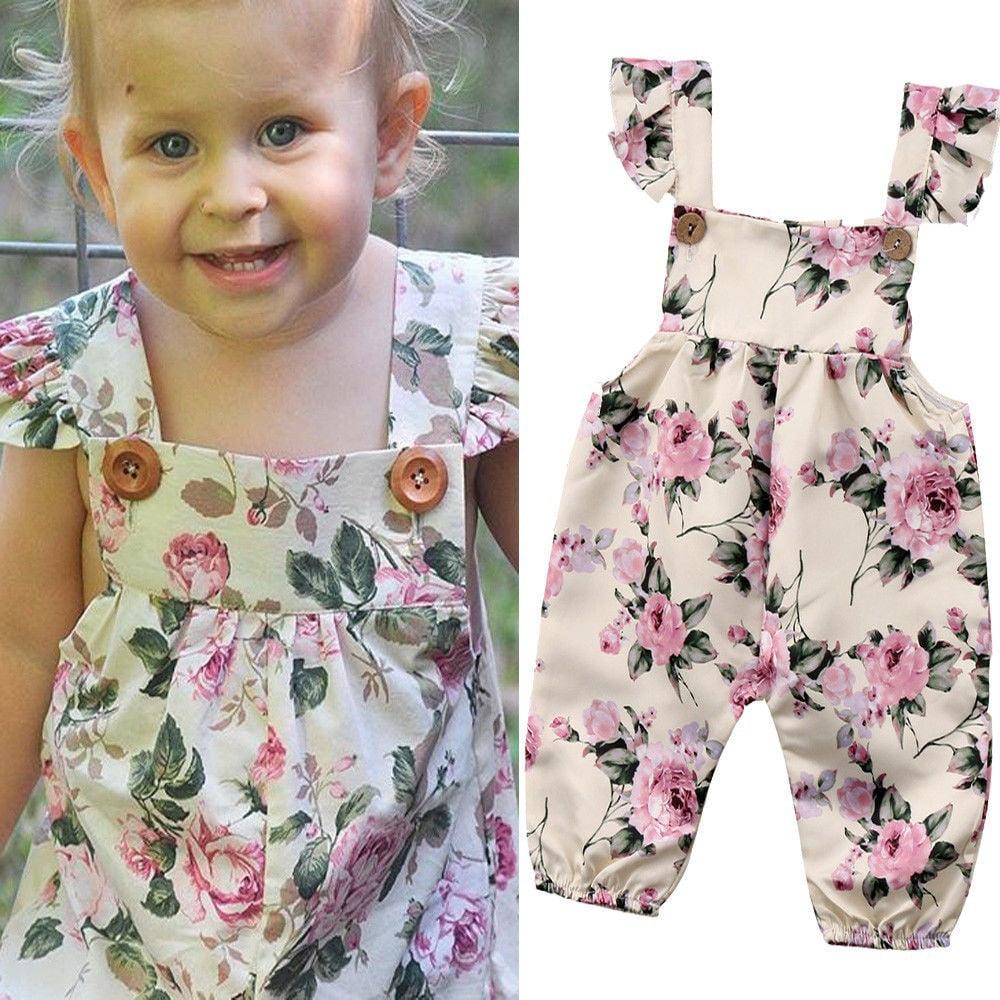 Newborn Baby Girl Cotton Romper Bodysuit Jumpsuit Playsuit Summer Clothes Outfit