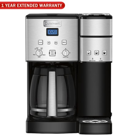 Cuisinart SS-15FR 12-Cup Coffee Maker and Single-Serve Brewer, Stainless (Refurbished) w/1 Year Extended Warranty