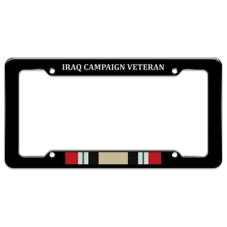 Marine Corps USMC Iraq Campaign Veteran Ribbon Officially Licensed License Plate Tag Frame