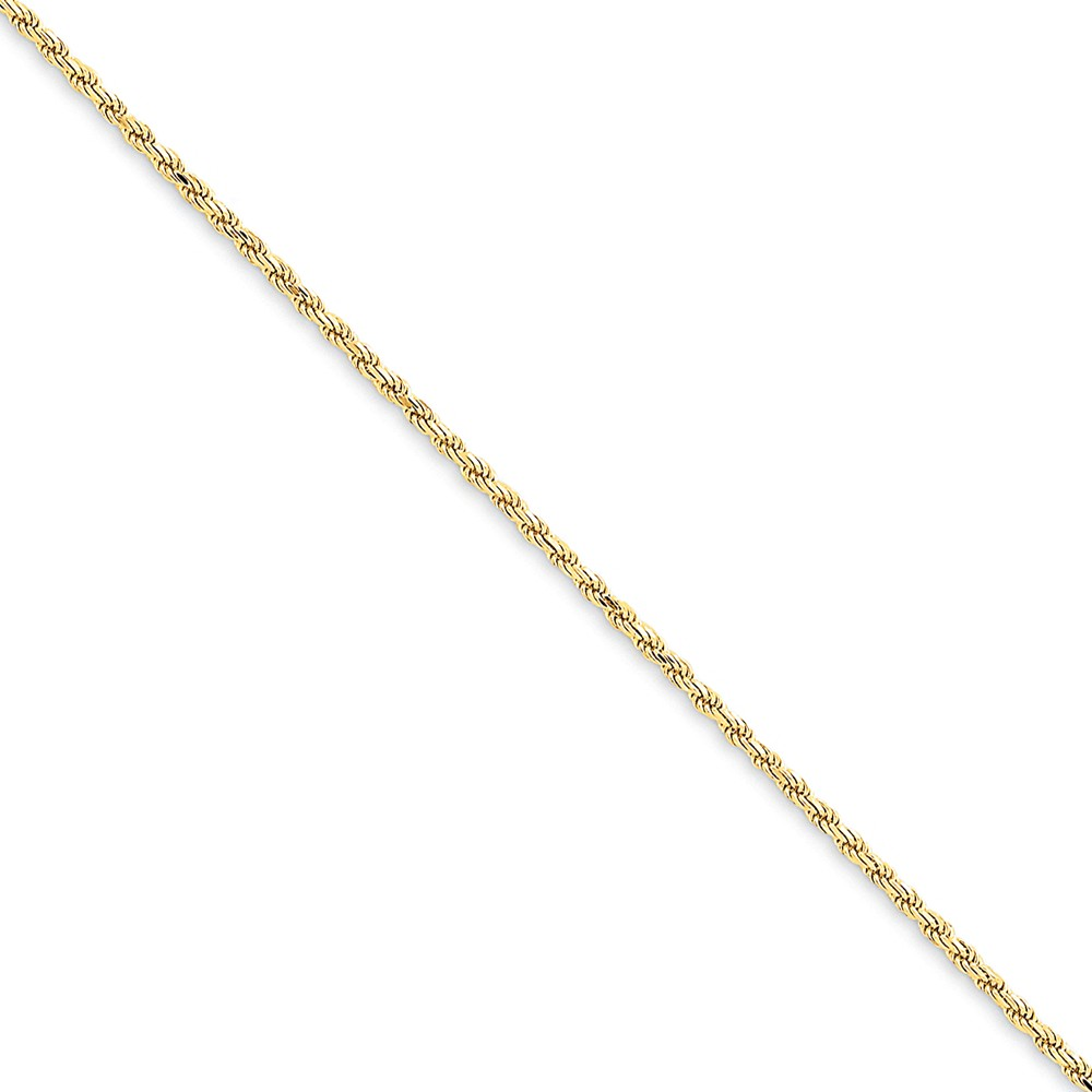 ICE CARATS ICE CARATS 14kt Yellow Gold 1.6mm Solid Lobster Link Rope Bracelet Chain 8 Inch Fine Jewelry Ideal Gifts For... by IceCarats Designer Jewelry Gift USA