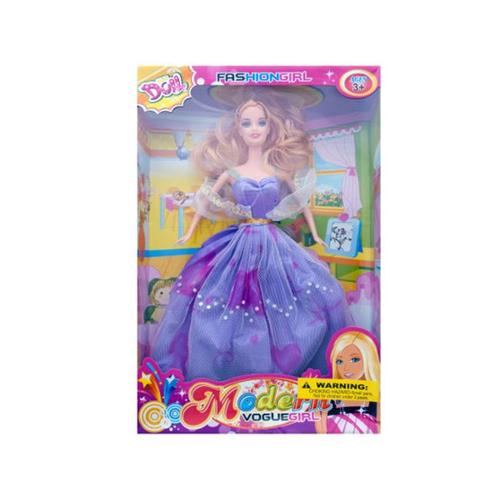 Bulk Buys OB996-12 Fashion Doll With Sparkle Gown