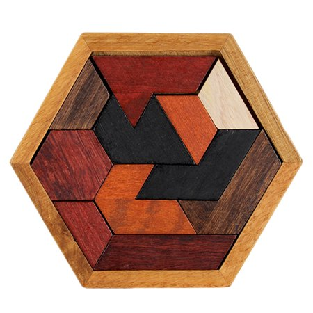 Educational Puzzles Wooden Toys Tangram Jigsaw Board Geometric Shape Puzzle Toy Shape Puzzle Board