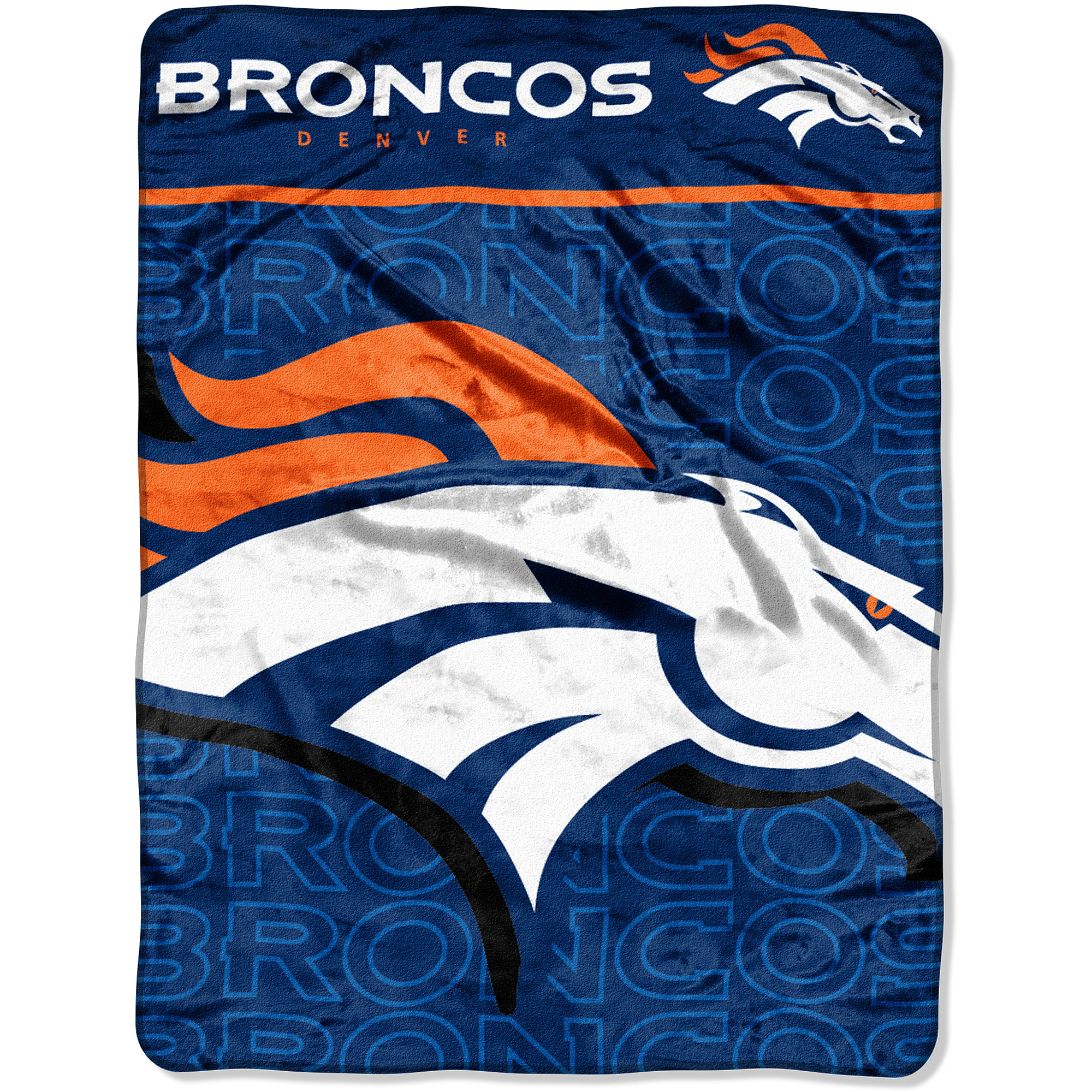 NFL Broncos 46x60 Micro Raschel Throw