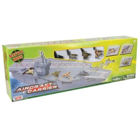 Daron Aircraft Carrier with 4 Diecast Aircrafts