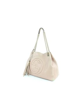 ae00caaf41b89 Product Image Soho Fringe Tassel Lilac Pink Chain Tote 7gz0114 Pale Light  Lilac Leather Shoulder Bag. Gucci