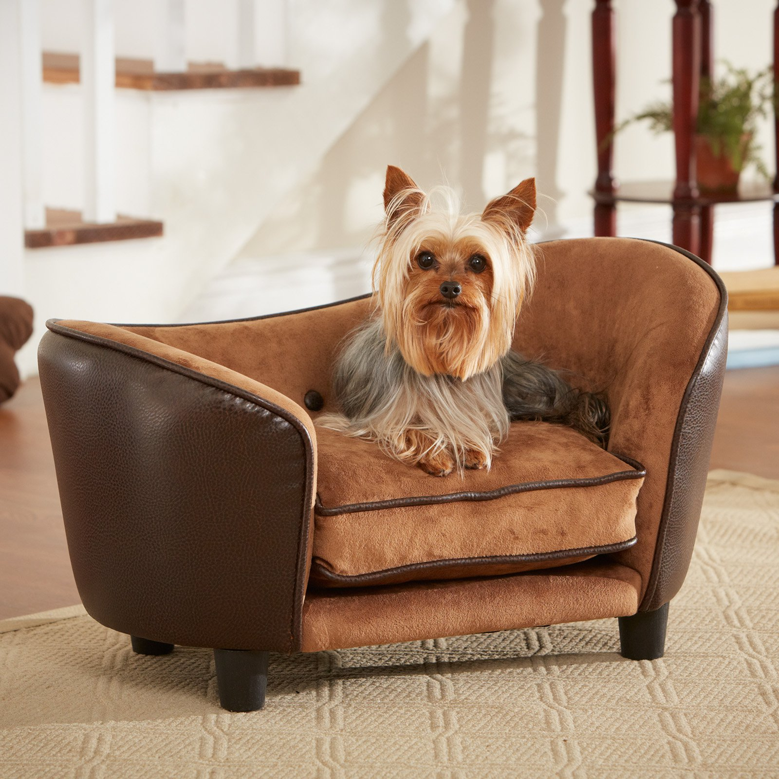 Enchanted Home Pet Ultra Plush Snuggle Bed - Pebble Brown