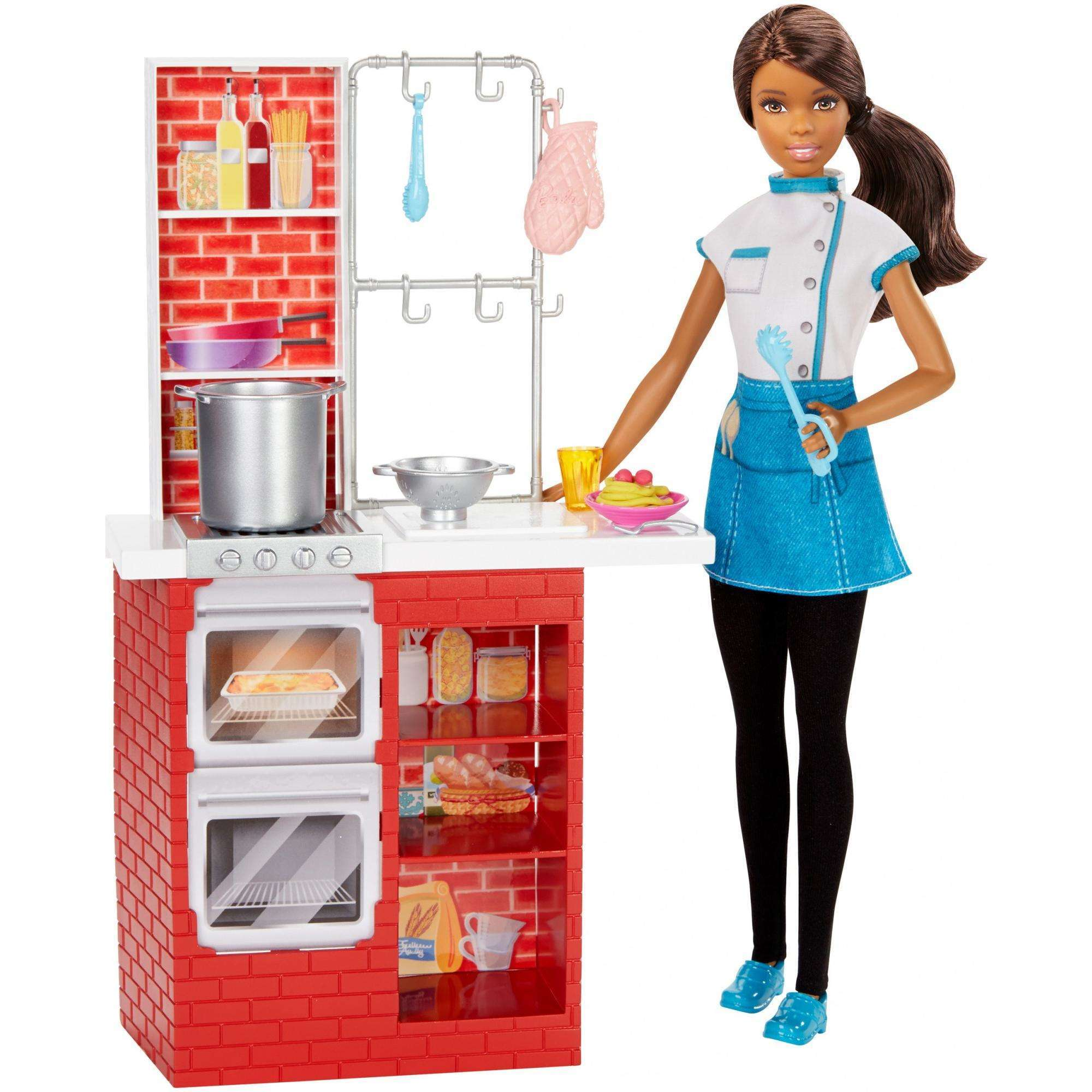 Barbie Spaghetti Chef Nikki Doll and Playset by Mattel