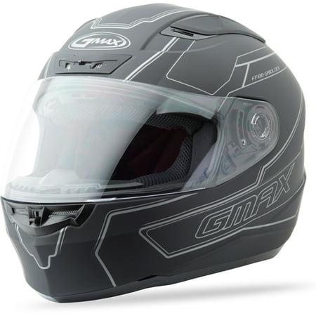 Full Face Helmet Flat (Ff88 Full Face Derk Helmet Flat Black/Silver S)