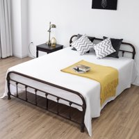 Queen Size Metal Steel Bed Frame with Stable Metal Slats