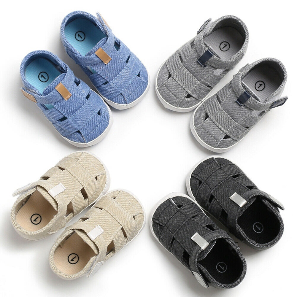Tcesud Baby Girl Boy Infant Sandals Shoes Soft Anti-Slip Rubber Sole Newborn Infant Toddler Summer First Walkers Outdoor Shoes