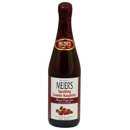Meier's Sparkling Country Raspberry Grape Juice, 25.4 oz (Pack of 12)