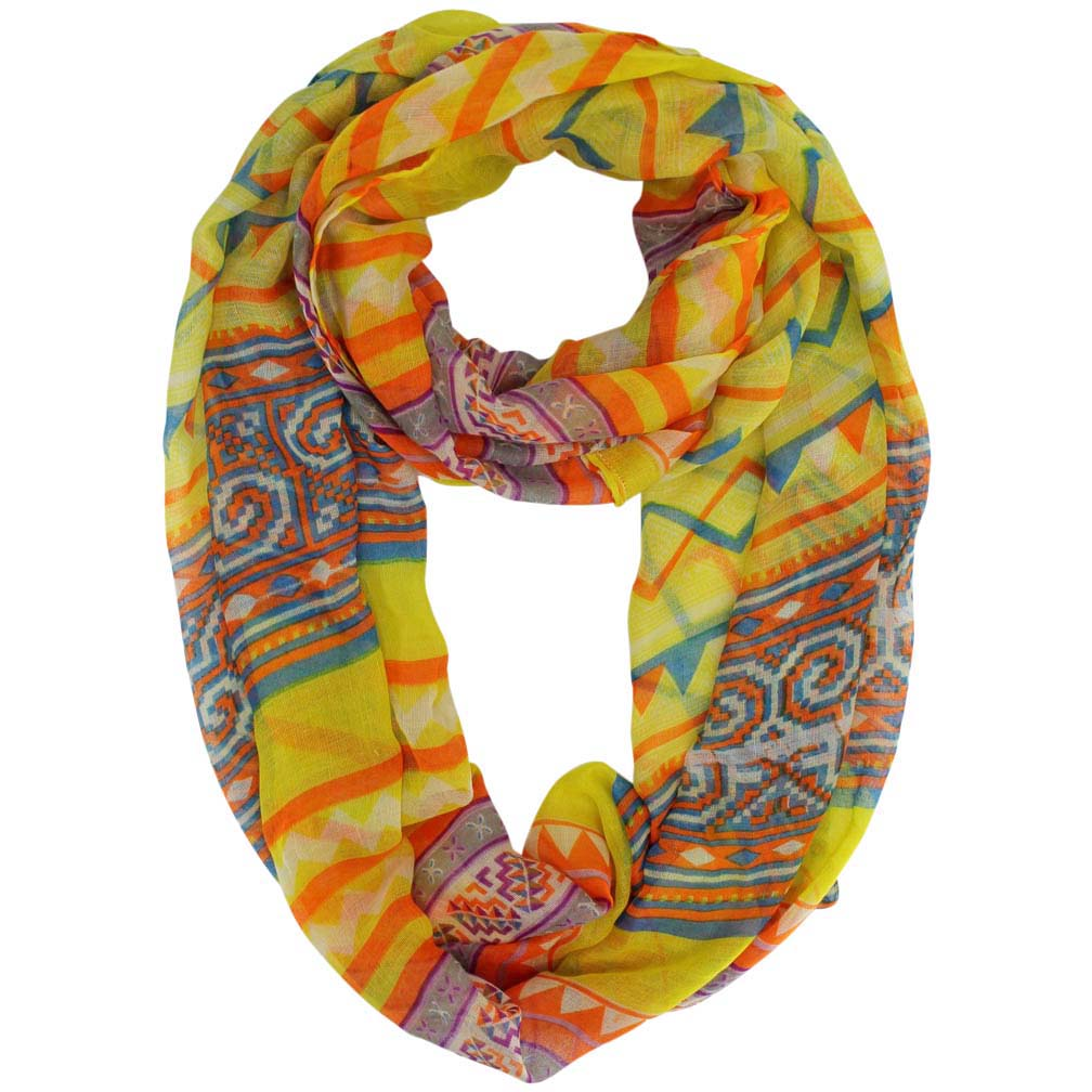 Luxury Divas Tribal Chevron Eternity Scarf