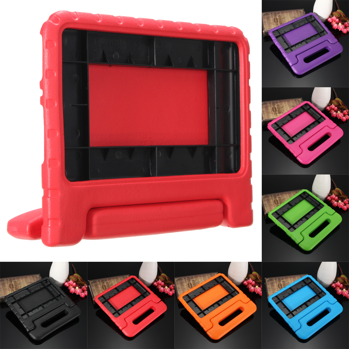 Children Safe Kids Handle Shock Proof Protective EVA Foam Stand Case Cover For Amazon Kindle Fire 7inch
