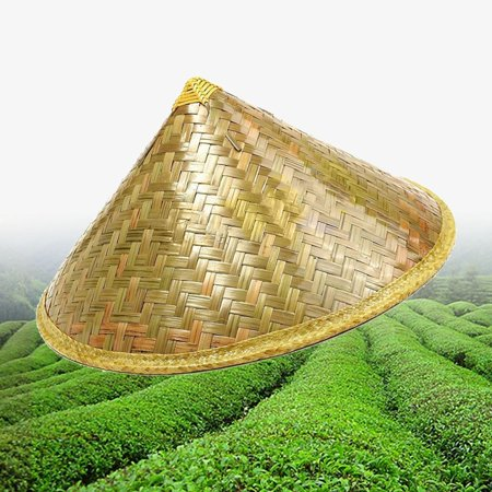 Chinese Sun Hat Brimmed Bamboo Straw Hat Tourism Farmer Unisex Fishing Hat Fisherman's Hat