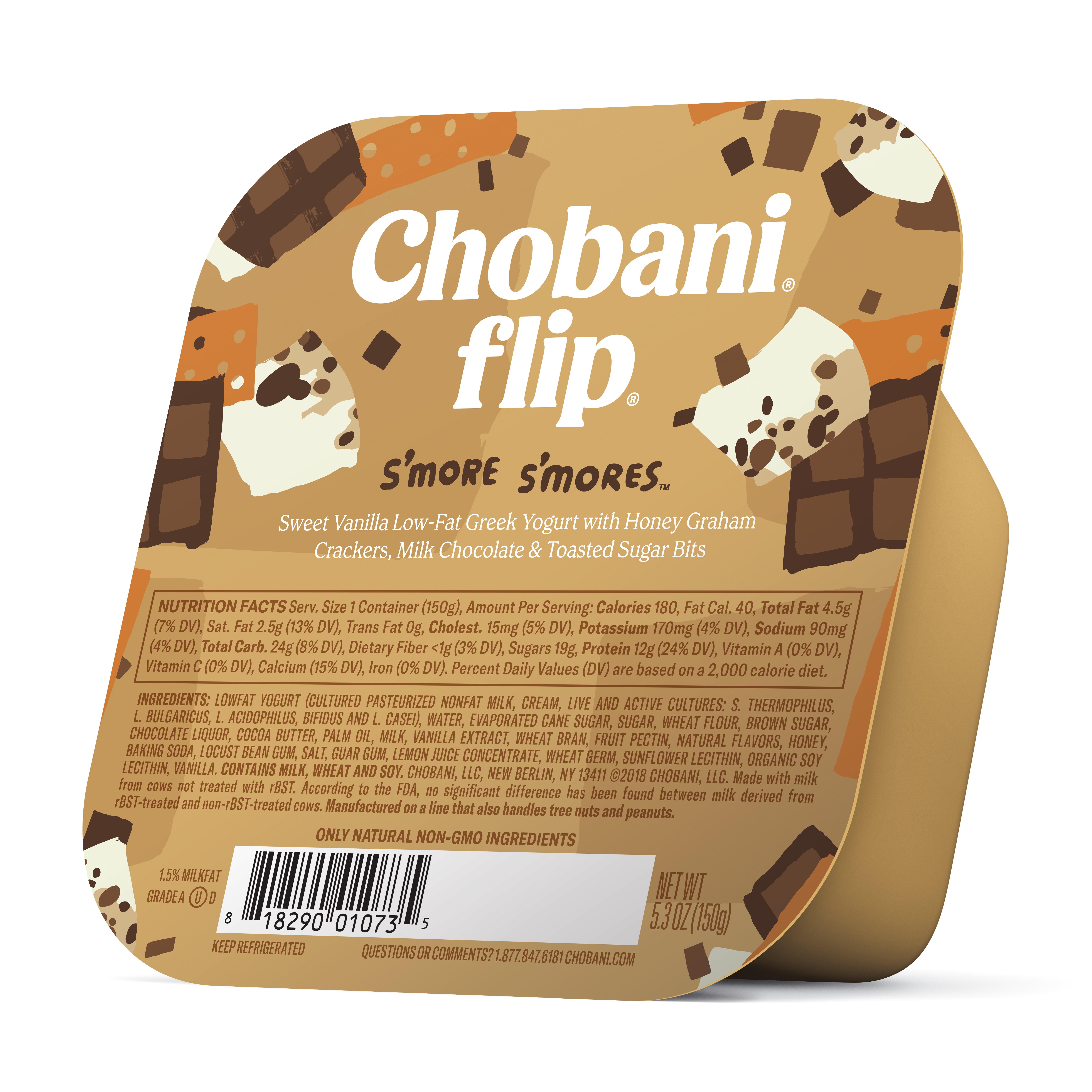 Chobani, Flip S'more S'mores Greek Yogurt, 5.3 Oz.