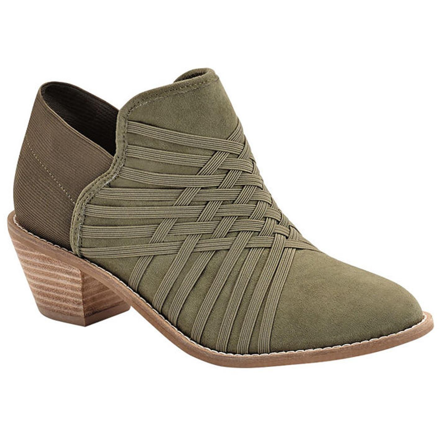 Zee Alexis Womens Molly Ankle Boots Olive 6.5 M
