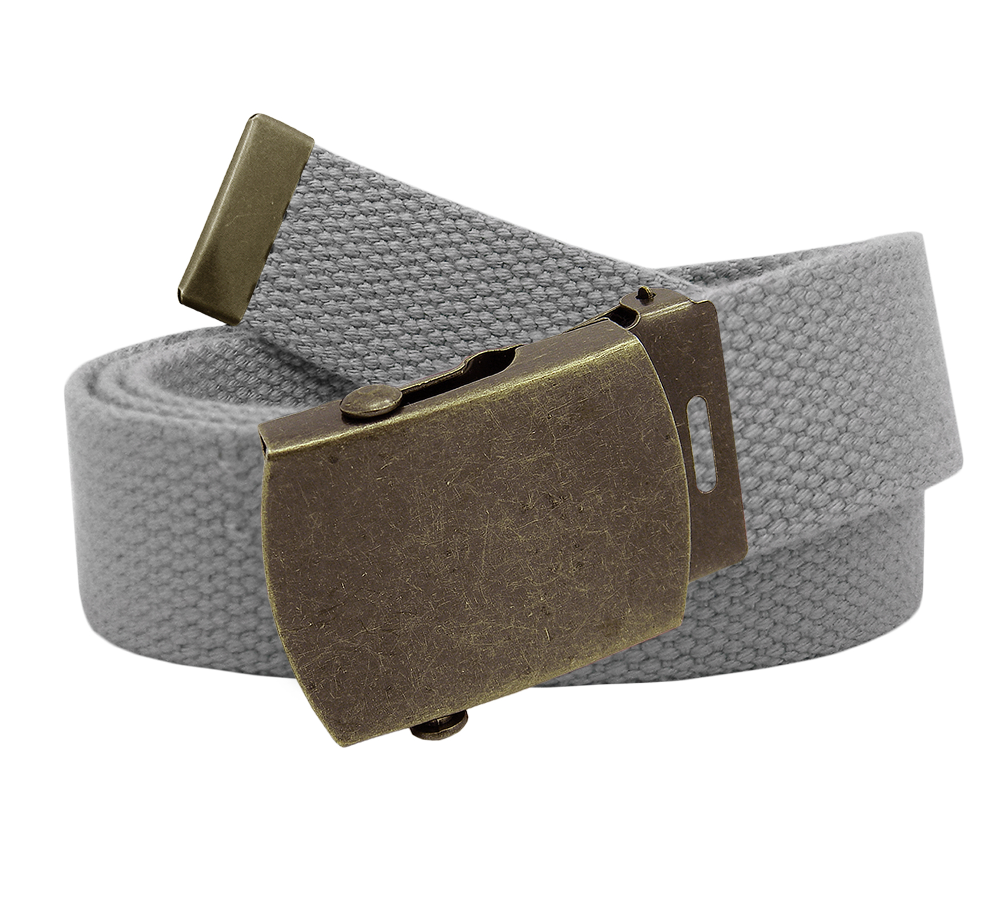 Classic Black Mens Military Slider Belt Buckle with Canvas Web Belt XX-Large Checkered