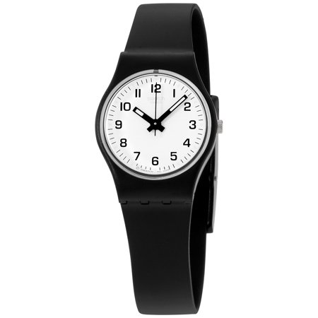Swatch Originals Something New White Dial Plastic Strap Ladies Watch LB153 ()