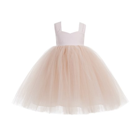 Ekidsbridal Sweetheart Neck Cotton Blush Pink Tutu Flower Girl Dresses Tutu Dress Pageant Dresses Princess Gown 171 - Dress Sweet 17
