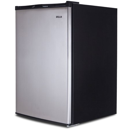 Frost Fridge Freezer - Della Single Reversible Door Portable Mini Fridge Mini Refrigerator Freezer 3.0 Cubic Feet Stainless Steel SV