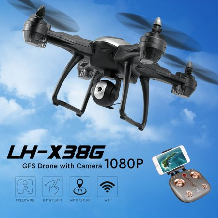 LH-X38G GPS Drone with Camera 1080P WiFi FPV Drone Auto Following Altitude Hold RC Quadcopter](Halloween 6 1080p)