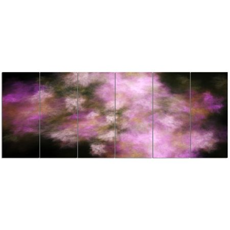 6 Graphic Designs - Design Art 'Perfect Pink Starry Sky'  6 Piece Graphic Art Print Set on Canvas