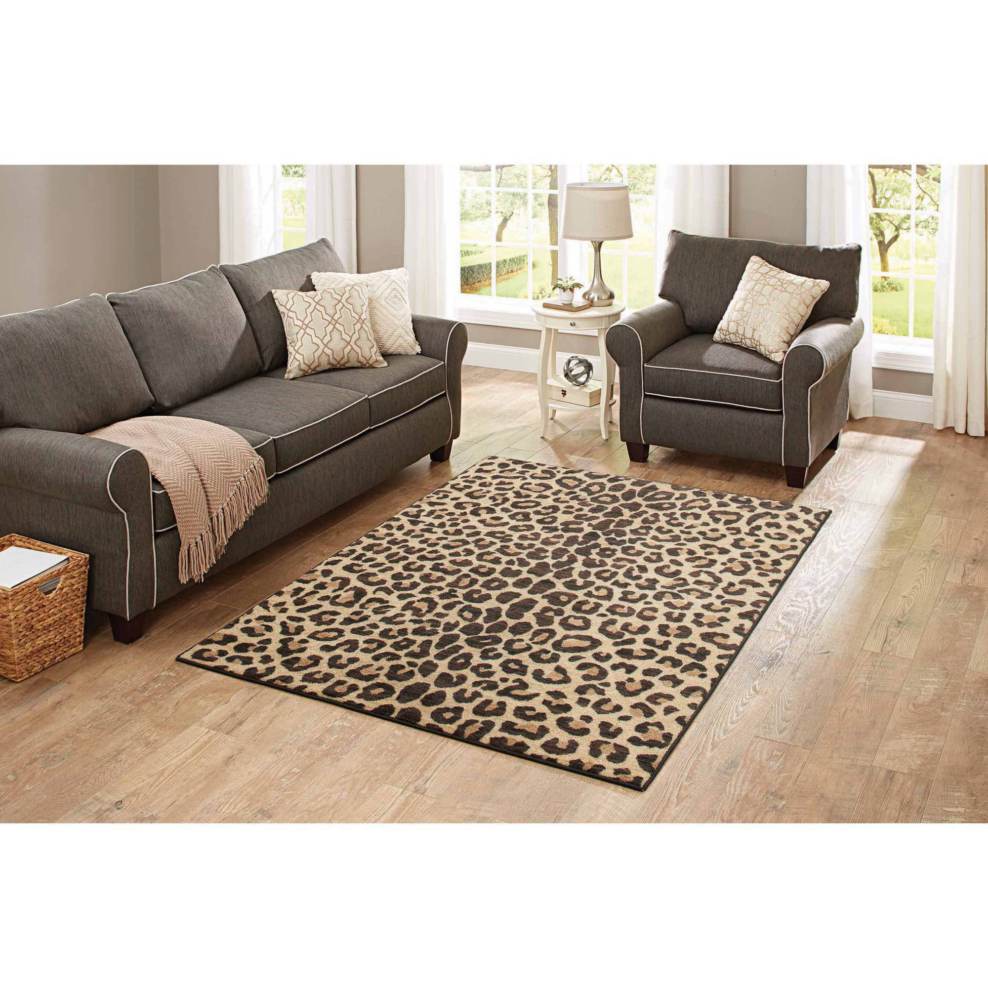 Better Homesu0026gardens Bhg 5x7 Cheetah Camel Area Rug