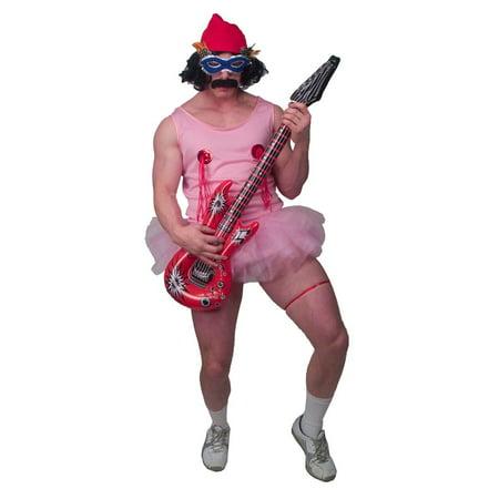 Cheech & Chong Cheech Pink Tu Tu Costume Set Adult Standard (Cheech And Chong Halloween Girls)