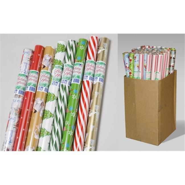 Bulk Buys Christmas Gift Wrap - Case of 60