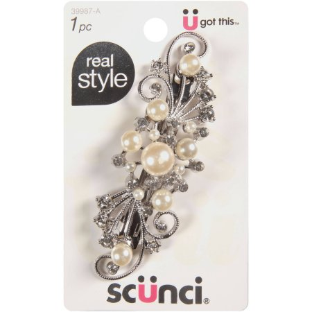 Conair Scunci Real Style Hair Barrette Barrette with ...  Real