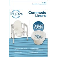 TidyCare Commode Liners - Convenience Pack - 12 commode liners and 12 super-absorbent pads
